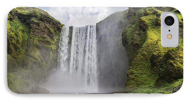 Skogarfoss Waterfall IPhone Case by For Ninety One Days