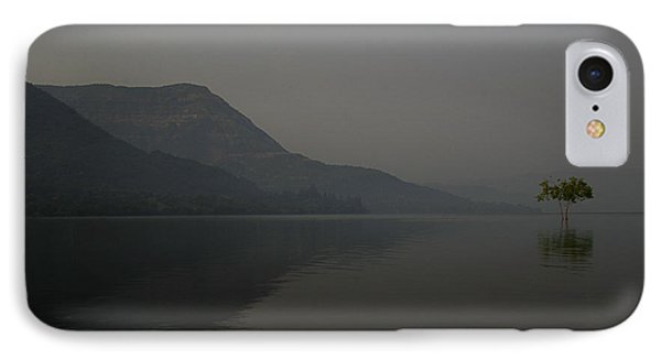 IPhone Case featuring the photograph Skc 0086 Solitary Isolation by Sunil Kapadia