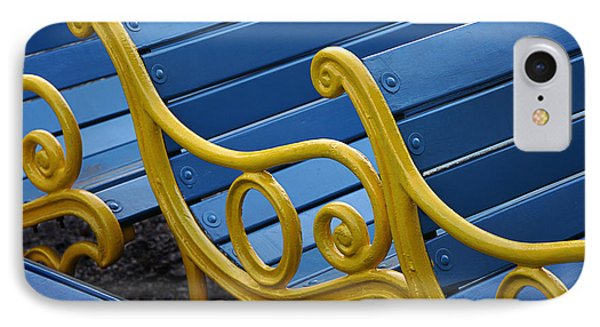 IPhone Case featuring the photograph Skc 0246 The Garden Benches by Sunil Kapadia