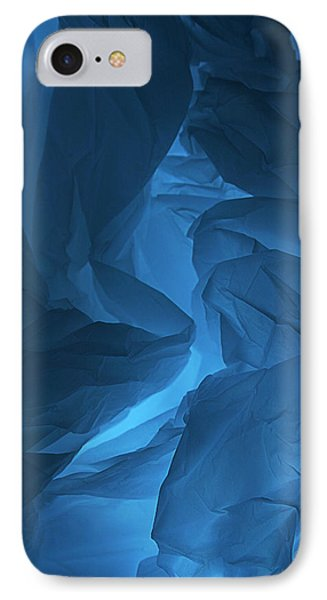 Skc 0247 A Mystery In Blue IPhone Case by Sunil Kapadia
