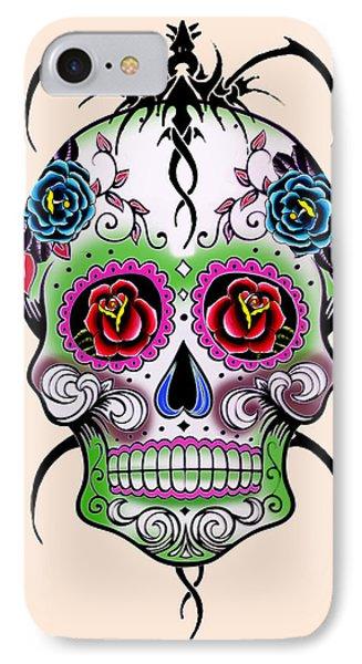 Skull 11 IPhone Case by Mark Ashkenazi