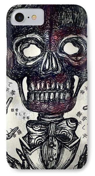 Skull And Equality Phone Case by Akiko Okabe