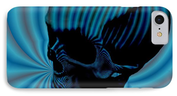 Skull Aura Blue Phone Case by Jason Saunders