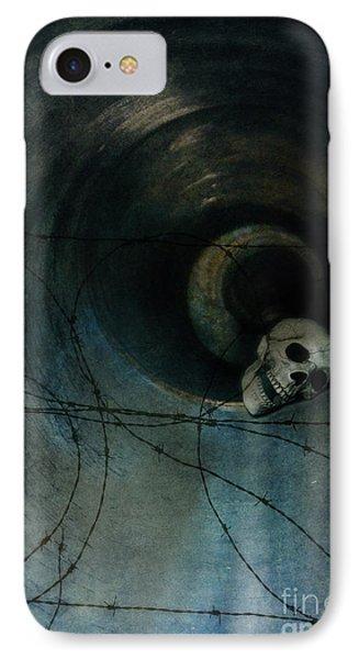 Skull In Drainpipe IPhone Case by Jill Battaglia