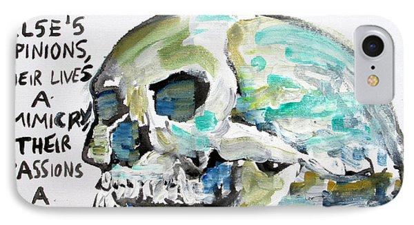Skull Quoting Oscar Wilde.10 Phone Case by Fabrizio Cassetta
