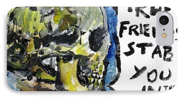 Skull Quoting Oscar Wilde.2 Phone Case by Fabrizio Cassetta