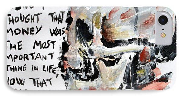 Skull Quoting Oscar Wilde.3 Phone Case by Fabrizio Cassetta
