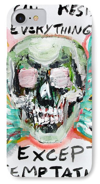 Skull Quoting Oscar Wilde.7 Phone Case by Fabrizio Cassetta