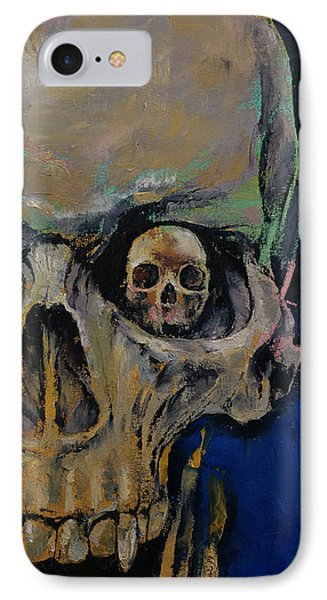 Vampire Skull IPhone Case by Michael Creese