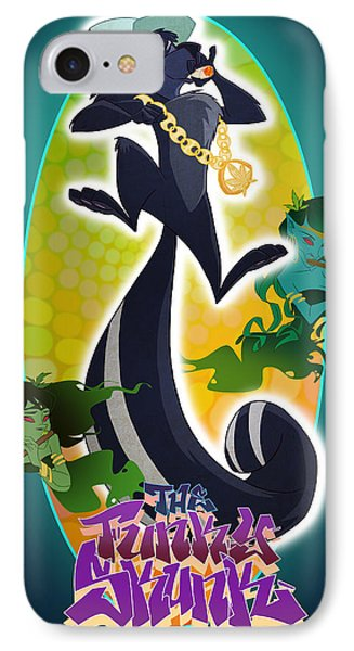Skunk Funk IPhone Case by Nelson Dedos Garcia
