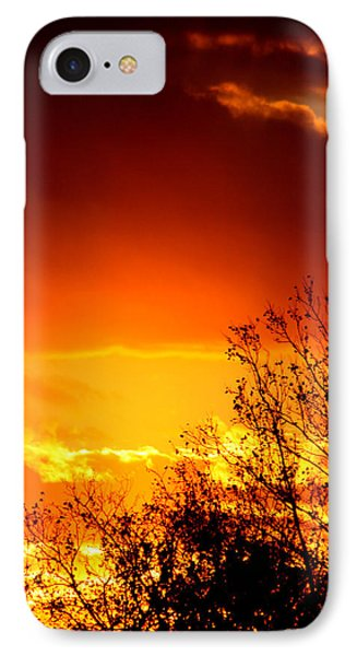 Sky Ablaze Phone Case by Russell  King