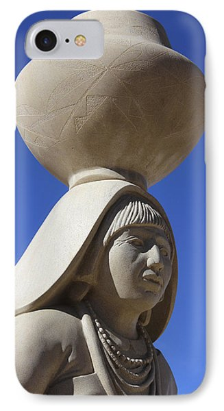 Sky City Cultural Center Statue 2 IPhone Case by Mike McGlothlen