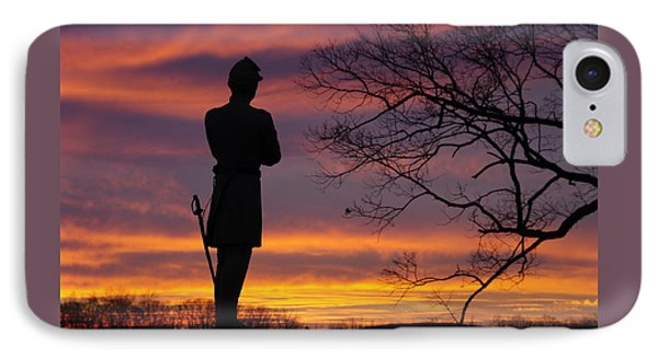 Sky Fire - 124th Ny Infantry Orange Blossoms-1a Sickles Ave Devils Den Sunset Autumn Gettysburg IPhone Case
