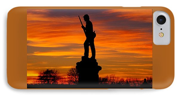 Sky Fire - 128th Pennsylvania Volunteer Infantry A1 Cornfield Avenue Sunset Antietam Phone Case by Michael Mazaika