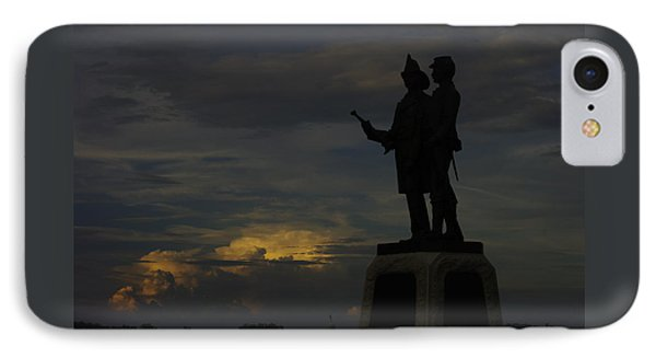 Sky Fire - 73rd Ny Infantry 4th Excelsior 2nd Fire Zouaves - Summer Evening Thunderstorms Gettysburg Phone Case by Michael Mazaika