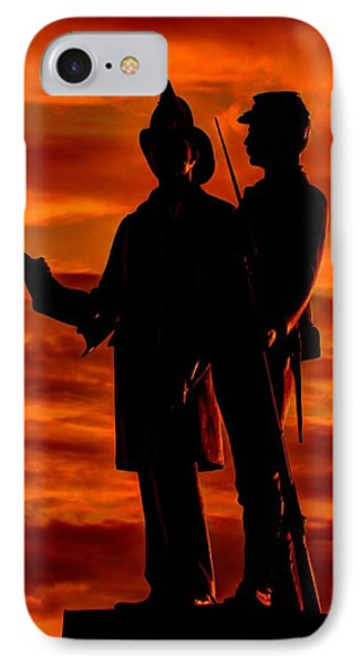 Sky Fire - 73rd Ny Infantry Fourth Excelsior Second Fire Zouaves-b1 Sunrise Autumn Gettysburg Phone Case by Michael Mazaika