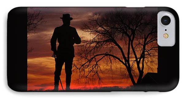 Sky Fire - Brigadier General John Buford - Commanding First Division Cavalry Corps Sunset Gettysburg IPhone Case