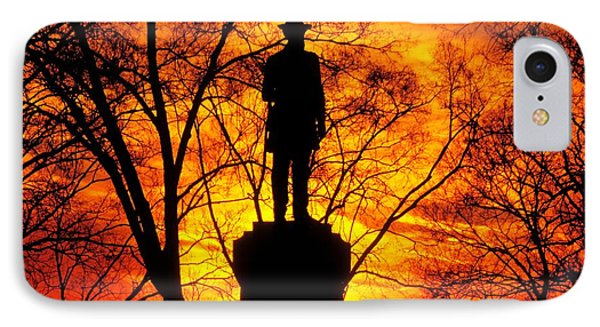 Sky Fire - Flames Of Battle 50th Pennsylvania Volunteer Infantry-a1 Sunset Antietam Phone Case by Michael Mazaika