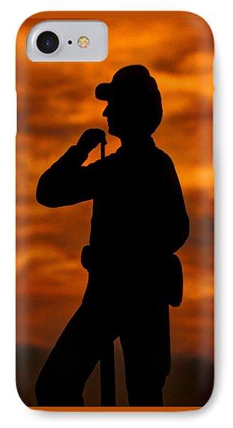 Sky Fire - Flames Of Battle 7th Pennsylvania Reserve Volunteer Infantry-a1 Sunset Antietam Phone Case by Michael Mazaika