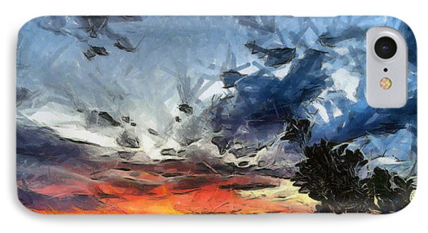 IPhone Case featuring the painting Sky by Georgi Dimitrov
