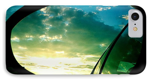 Sky In The Rear Mirror IPhone Case by Matthias Hauser