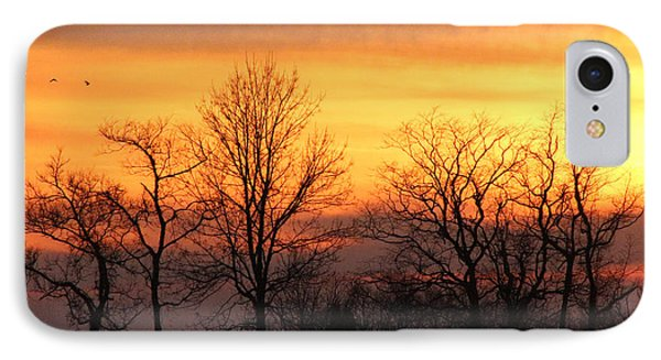 Sky On Fire IPhone Case by Lorna Rogers Photography