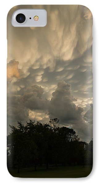 Sky Painting - Mammatus Clouds After A Storm IPhone Case