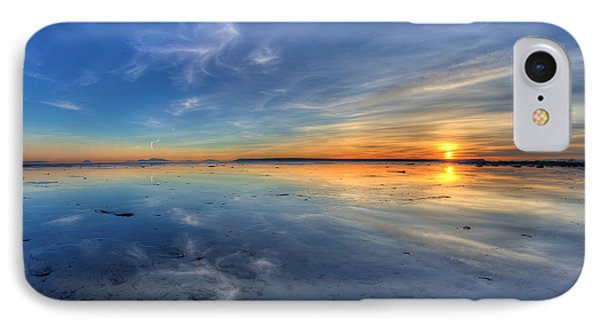 Sky Reflection In Boundary Bay Phone Case by Pierre Leclerc Photography