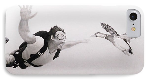 Skydiver IPhone Case by Angel Ortiz