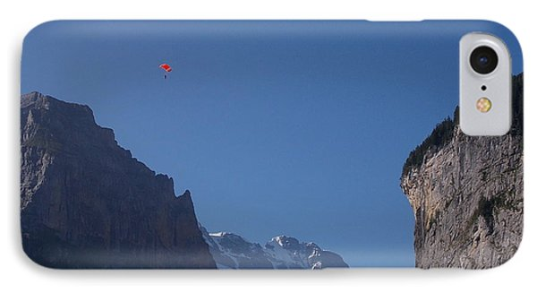 Skydiver Over Lauterbrunnen IPhone Case