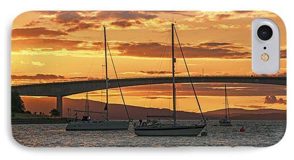 Skye Bridge Sunset Phone Case by Chris Thaxter