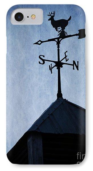 Skyfall Deer Weathervane  Phone Case by Edward Fielding
