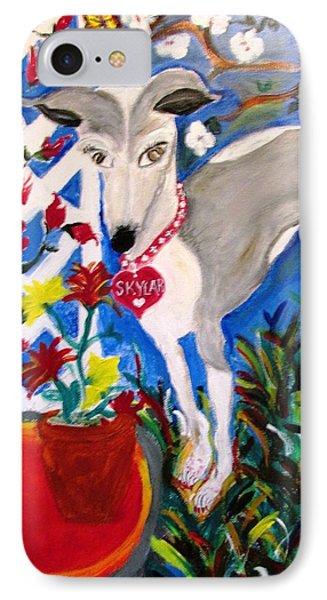 Skylar Miniature Greyhound IPhone Case