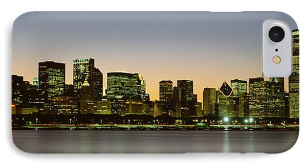Skyline At Dusk Chicago Il Usa IPhone Case by Panoramic Images