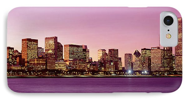 Skyline At Sunset, Chicago, Illinois IPhone Case by Panoramic Images