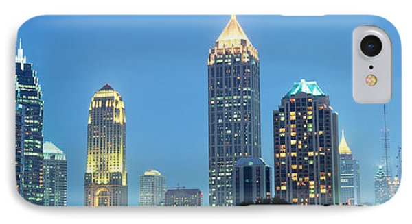 Skyline Atlanta Ga Usa IPhone Case by Panoramic Images