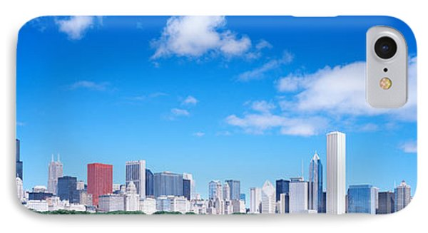 Skyline, Chicago, Illinois, Usa IPhone Case by Panoramic Images
