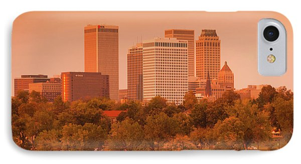 Skyline From The Arkansas River IPhone Case by Panoramic Images