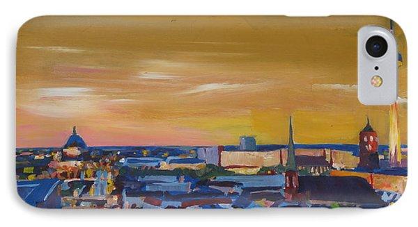 Skyline Of Berlin At Sunset Phone Case by M Bleichner
