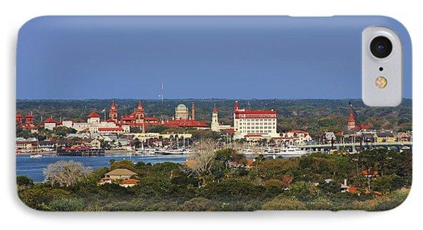 Skyline Of St Augustine Florida Phone Case by Christine Till