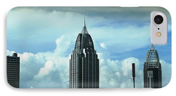 Skyline Over  Mobile IPhone Case by Ecinja Art Works