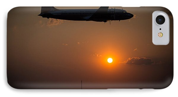 IPhone Case featuring the photograph Skymaster Sunset by Paul Job