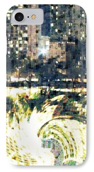 Skyscraper Reflection Painting IPhone Case by PainterArtist FIN