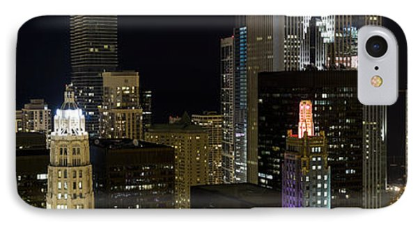 Skyscrapers And Firework Display IPhone Case by Panoramic Images