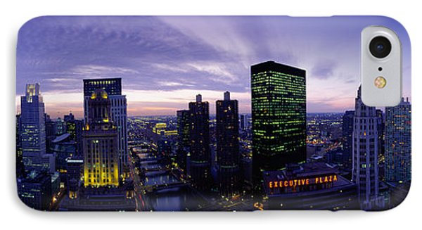 Skyscrapers, Chicago, Illinois, Usa IPhone Case by Panoramic Images