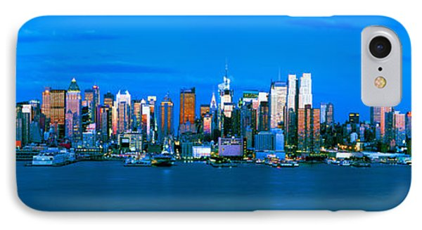 Skyscrapers In A City, Manhattan, New IPhone Case by Panoramic Images