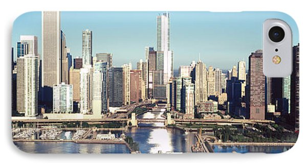Skyscrapers In A City, Navy Pier IPhone Case by Panoramic Images