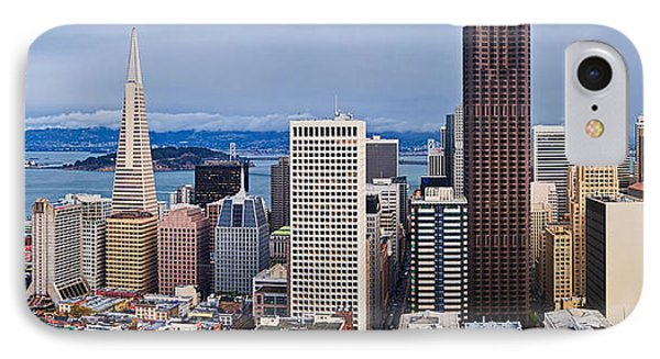 Skyscrapers In The City IPhone Case by Panoramic Images