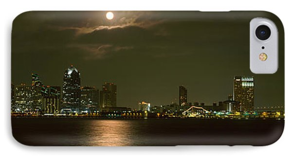 Skyscrapers Lit Up At Night, Coronado IPhone Case by Panoramic Images