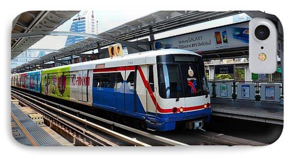 Skytrain Carriage Metro Railway At Nana Station Bangkok Thailand Phone Case by Imran Ahmed